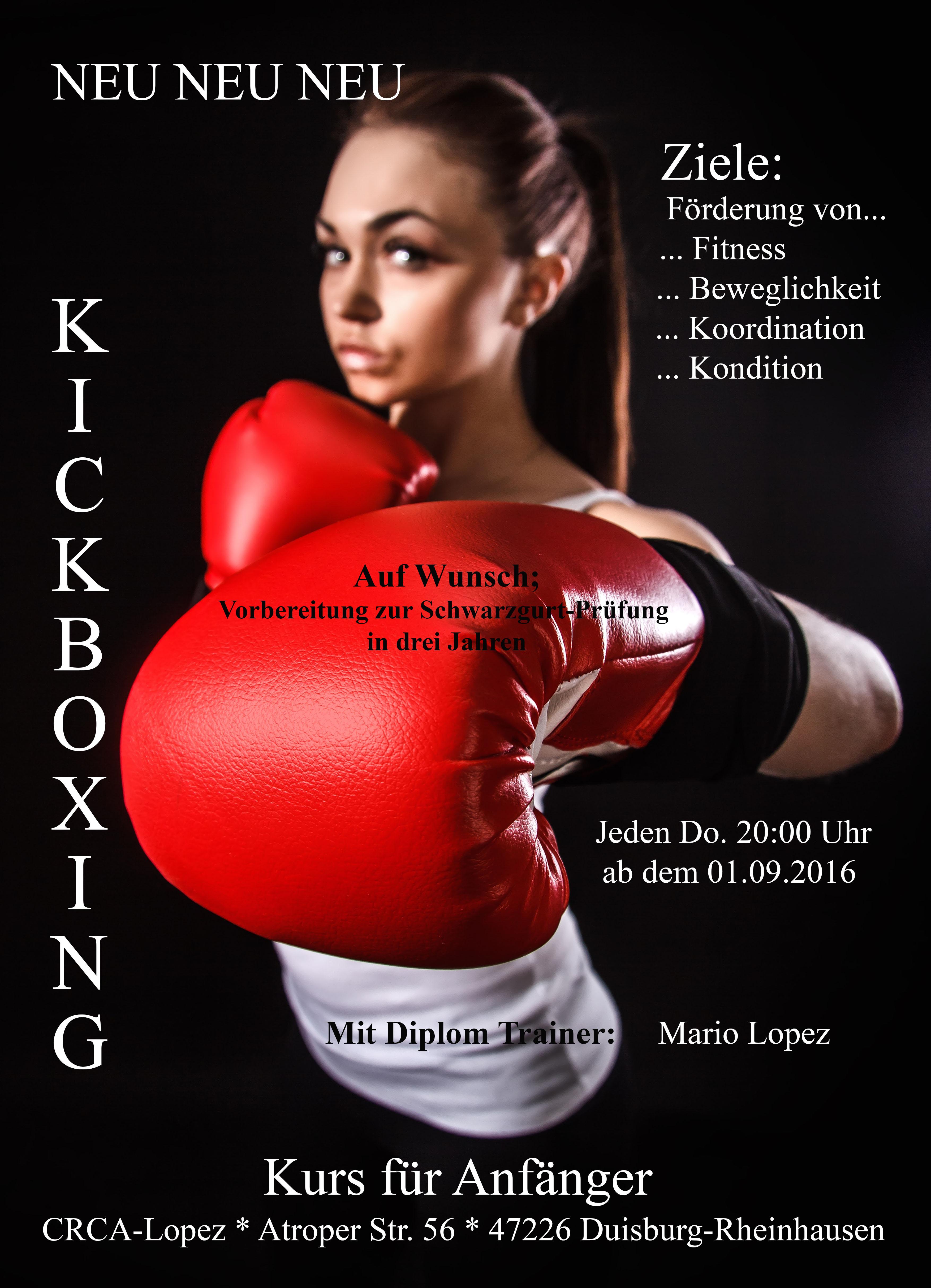 Neuer Kickboxen Kurs