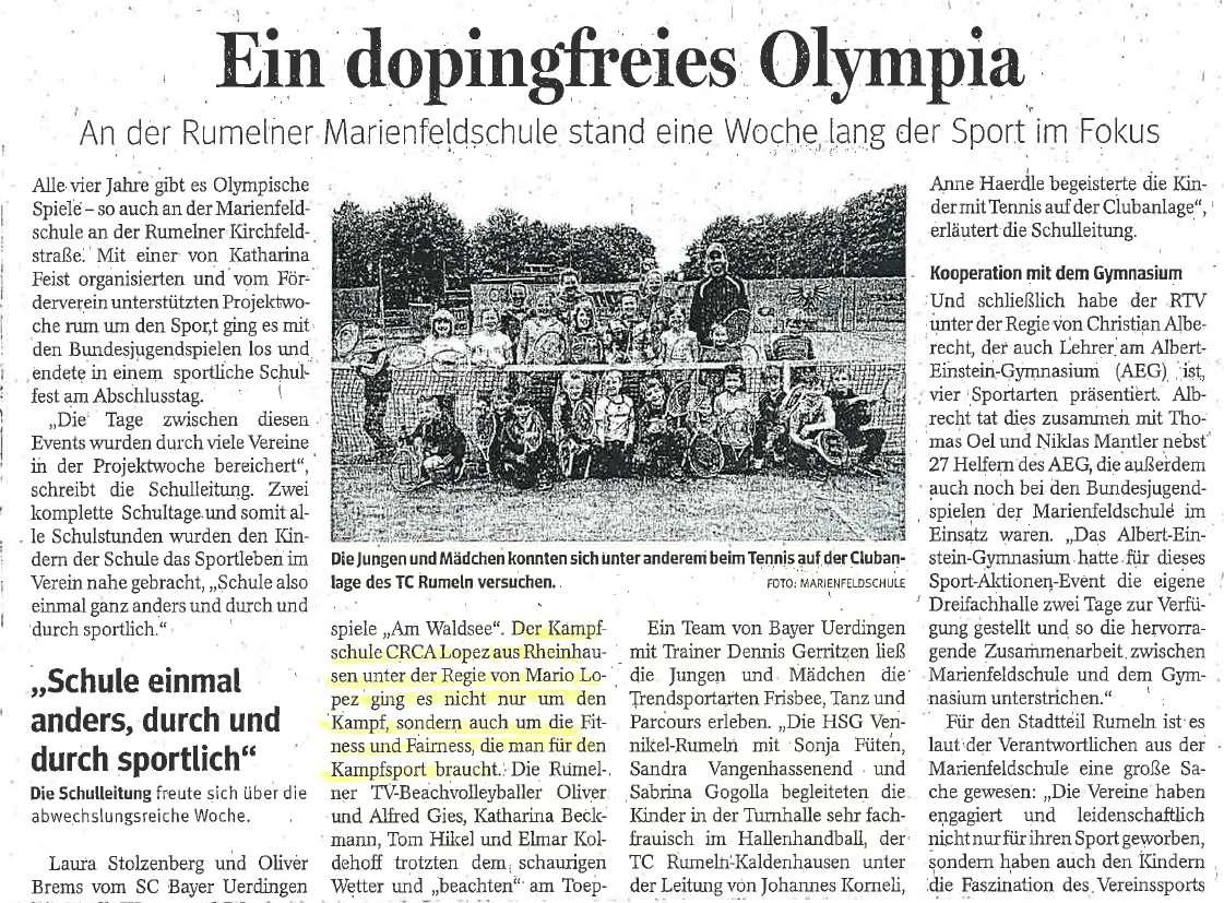 Zeitungsbericht 1